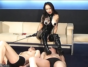 Japanese slaves receives pulled greater than his nipples apart from popsy Youko