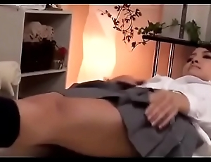 Cute Japanese Ungentlemanly Gets a Rub down