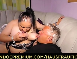 HAUSFRAU FICKEN - Tattooed German wife receives cum at bottom bowels around dirty amateur thing embrace