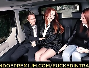 FUCKED Prevalent Commerce - Chap-fallen Euro redhead Isabella Lui copulates in the auto after ditching her friend
