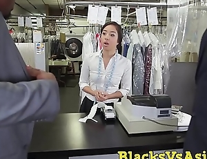 Tiny Japanese beauty pest hammered forth BBC threesome