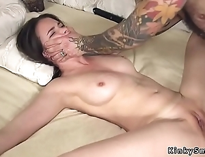 Pledged spreded slave anal screwed