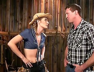 Hawt rancher anal copulates her goad in stonewalling